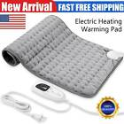 XL Electric Heating Pads for Back, Neck Heating Pad Fast Pain Relief, Tabby Gray