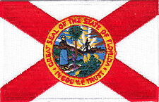 FLORIDA STATE FLAG - Iron On Embroidered Patch - Flag of Florida State