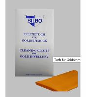 Silbo Pflegetuch für Goldschmuck Gold Putztuch Reinigungstuch für Schmuck