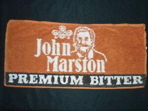 ORIGINAL VINTAGE BEER / BAR TOWEL JOHN MARSTON PREMIUM BITTER