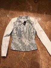 Bebe Moto tweed jacket nwt xs