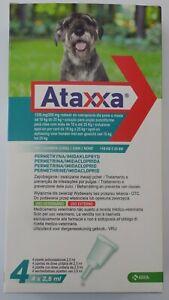 Pack 4 Ataxxa Medium dog 10kg - 25kg (21lb - 55lb) - 4 pipettes Spot on