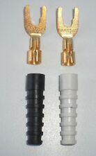 inakustik Referenz Kabelschuhe KS 60 Spade Kupfer vergoldet 4 Stück KS-60