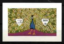 DHUFAR / OMAN 1972 - MINISHEET ANIMALS / BIRDS / PEACOCK MNH