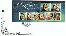 GB 2017 CHRISTMAS MINIATURE SHEET BUCKINGHAM COVERS OFFICIAL FDC