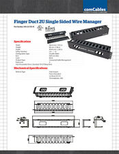 Finger Duct 2U Single Sided Wire Manager