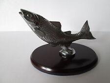 Desmo leaping Salmon car mascot. motor club. car badge. bonnet badge.