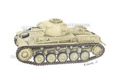 PANZER MKII Sketch direct from Aussie artist. A4 Artist print