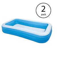 "Intex Swim Center 72"" x 120"" Family Backyard Inflatable Swimming Pool (2 Pack)"