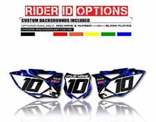 2006 - 2009 YZ 250F/YZ 450F CUSTOM NUMBER PLATE BACKGROUND GRAPHICS YAMAHA DECAL