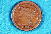 ESTATE FIND 1846 CORONET HEAD Large Cent!! #G3518