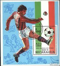 Nicaragua block167 (complete issue) used 1986 Football-WM ´86,