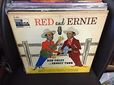 Red Foley & Ernest Tubb Red and Ernie vinyl LP ORIG 1956 DECCA MONO
