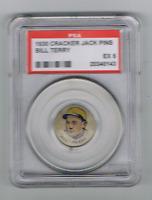 1930 CRACKER JACK PINS *BILL TERRY* *PSA 5* HOF GIANTS .341 AVG, .401 IN 1930