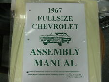 1967 FULLSIZE CHEVY CAPRICE, IMPALA, BELAIR, BISC. (ALL MODELS) ASSEMBLY MANUAL