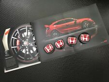 GENUINE OEM HONDA 2017 CIVIC TYPE R FK8 RED H WHEEL CENTER CAP COVER (SET OF 4)