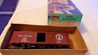 HO Scale Athearn 40' Box Car, Great Northern, Brown #11582, Built With Kadees