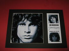 JIM MORRISON THE DOORS A4 PHOTO MOUNT SIGNED REPRINT BUY ANY 3 GET 4TH FREE