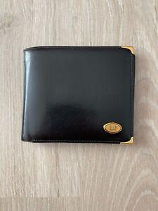 Dunhill Vintage Leather Black Bifold Wallet Purse Cardholder
