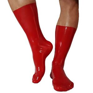 Brand New Red Latex Rubber Socks (one size)