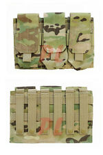 MOLLE PALS Triple .223 5.56 Mag Clip Magazine Pouch Holder Holster - MULTICAM