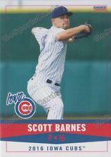 2016 Iowa Cubs Scott Barnes RC Rookie Chicago