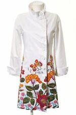 DESIGUAL Übergangsmantel Blumenmuster Casual-Look Damen Gr. DE 40 weiß Mantel