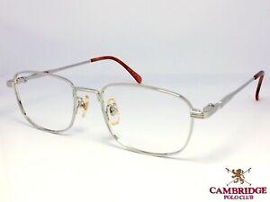 CAMBRIDGE POLO CLUB 4989C251 Silver Square Frame Eyeglasses Brille Occhiali