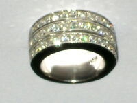 Großer Designer Ring Silber 925 Sterling Zirkonia  Ø ca.17mm