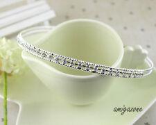 Schöne Dame Crystal Strass Stirnbänder Silber Tiaras Hochzeit Krone Prom