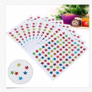 880X Star Shape Stickers For School Children Teacher Reward DIY Craft Hot