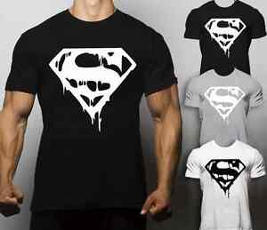 Superman Animal T Shirt Gym Motivation Bodybuilding Workout No Pain No Gain MMA