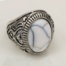 Vintage jewelry 316L Stainless Steel Vogue Design Mini Stone Ring Size 9 NEW F75