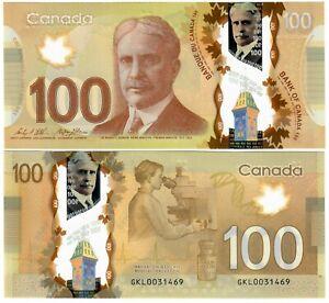 "Canada 100 Dollars 2012 (~2019) UNC ""GKL"" Wilkins-Poloz"