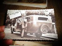 Ancienne Carte Postale aux Amoureux ; Ancien Autocar desannées 30