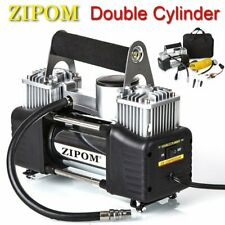 Double Cylinder 12v Car Air Compressor 150Psi Tyre Inflator Pump 80L/Min Zipom