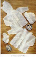 BABY knitting pattern  girls loopy jacket cardigan  , hat  6m / 2 yr dk