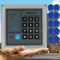 Electronic Entry Door Lock Access Control System RFID Proximity W/ 10 Key Fobs