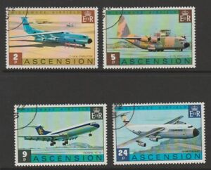 Ascension used 1975 Wideawake Airfield set sg187-190
