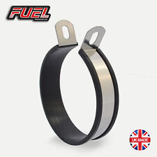 Motorcycle Exhaust Hanger / Stainless Mounting Bracket - Round Central 110mm Dia