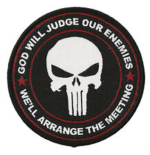 Patch écusson Punisher tactical patche thermocollant God will judge tissé