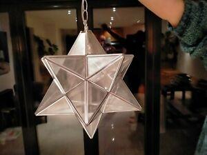 John Lewis Moravian Star Chrome Glass Ceiling light with pendant fitting