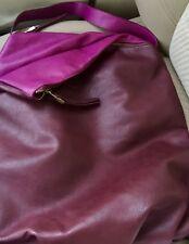 SALE! Two Tone Burgundy & Purple SHIRALEAH Faux Leather Shoulder Tote HANDBAG