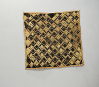 African Kuba Cloth Natural Woven Raffia Zaire Kuba Cloth