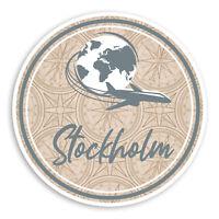 2 x 10cm Stockholm Sweden Vinyl Stickers - Travel Sticker Laptop Luggage #20149