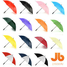 Plain Golf Umbrella White Black Red Green Orange Purple Pink Blue Navy Yellow