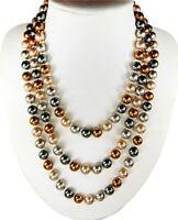 Schöne Halskette aus Muschelkernperlen in vier verschiedenen Farben 160cm -350