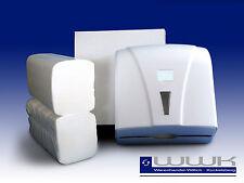 Papierhandtücher  3200 Blatt Handtuchpapier 2 lagig weiß,Handtuchpapierspender