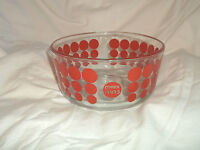 Pyrex 1915 100th Anniversary Red Polka Dot 1 Quart Storage Bowl