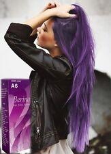 1X Berina A6 Violet Purple Color Hair Cream Color Permanant Super Hair Dye